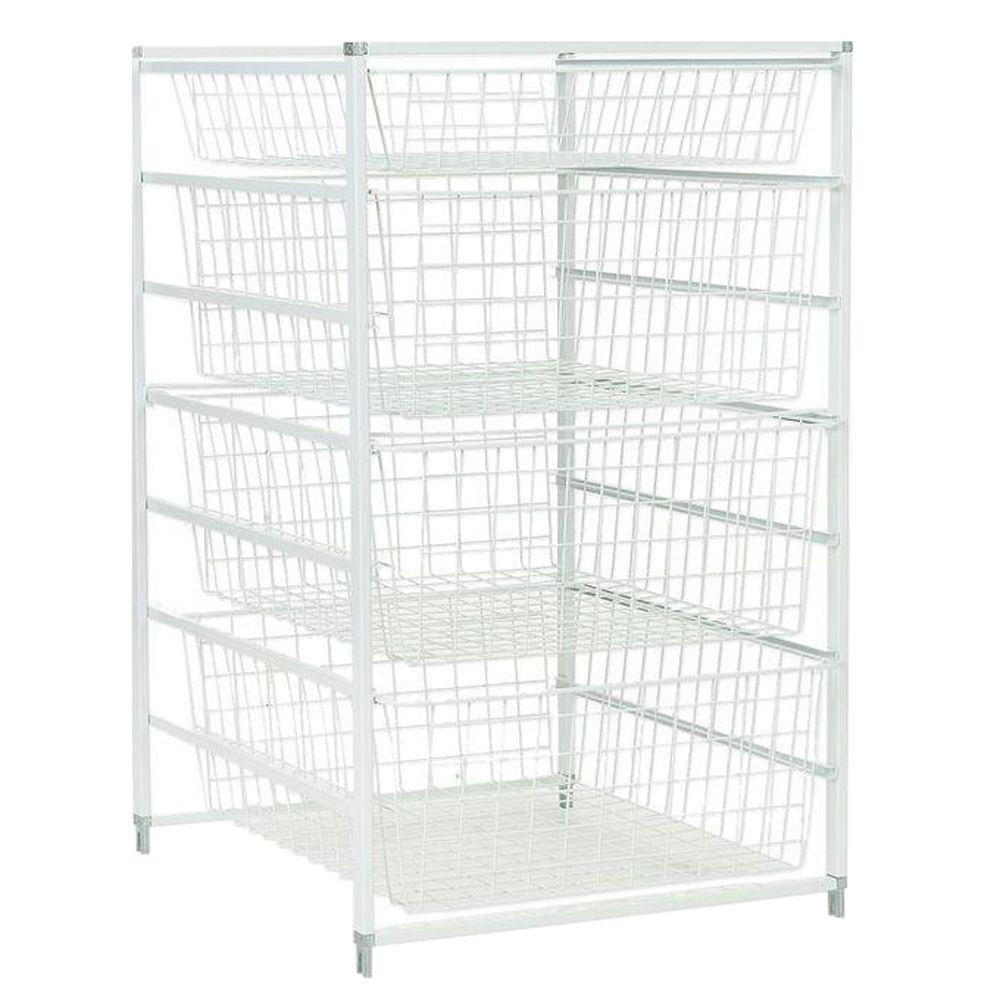 H Drawer Kit With 4 Wire Baskets