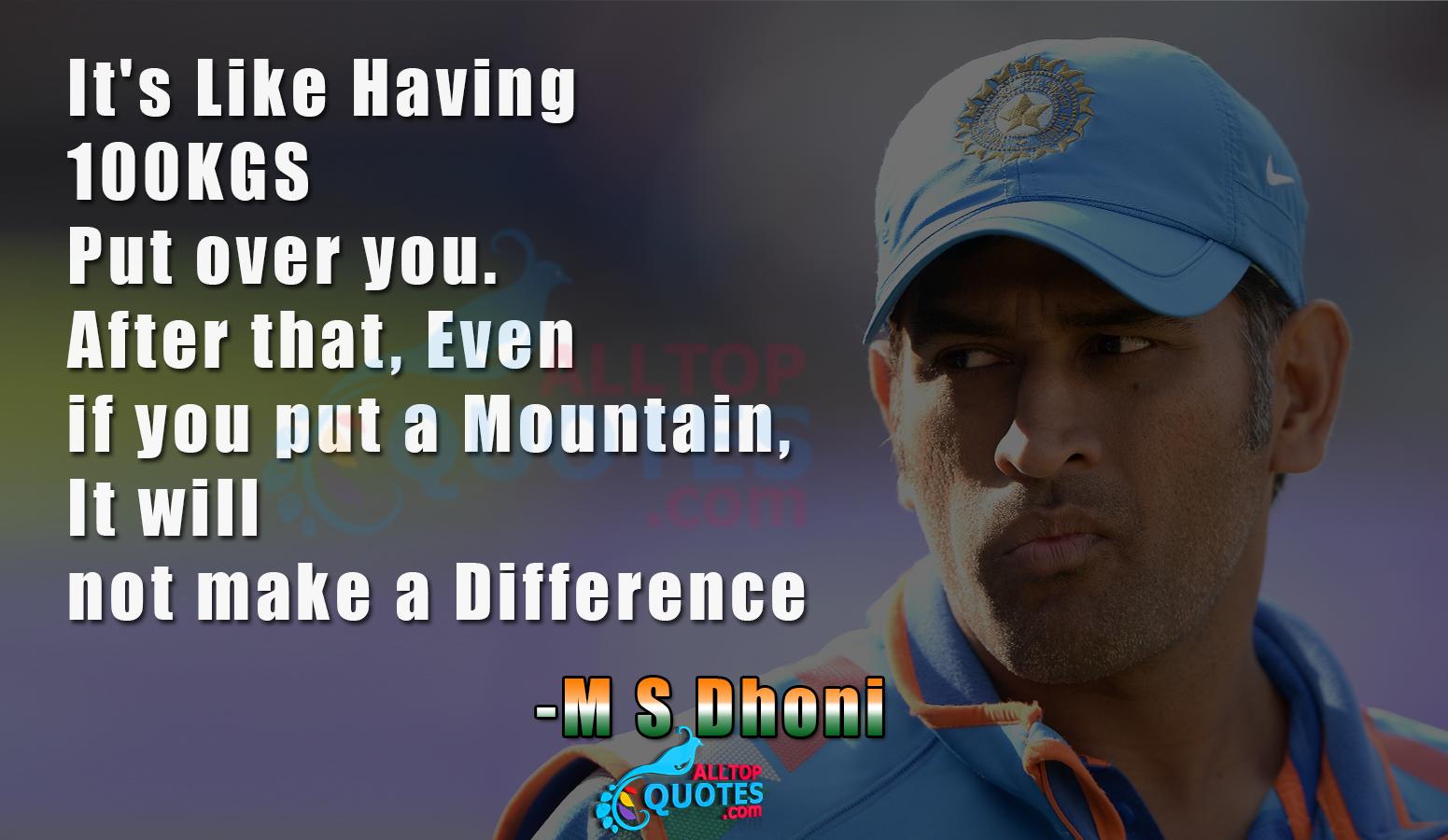 Mahendra Singh Dhoni Quotes Quotesgram Dhoni Quotes Sports Quotes Past Quotes