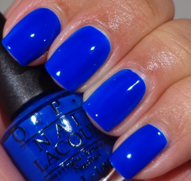 Blue Nail Polish Combinations: OPI Neon Revolution Minis