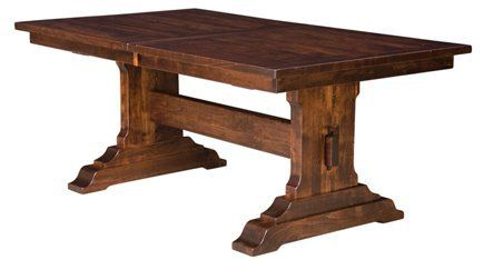 Amish Made Manchester Dining Table By West Point 1874 00 The Massiveness Of The Manchester Dining Table Is Profound And Made Thoro Dining Table Rectangle Dining Table Trestle Dining Tables