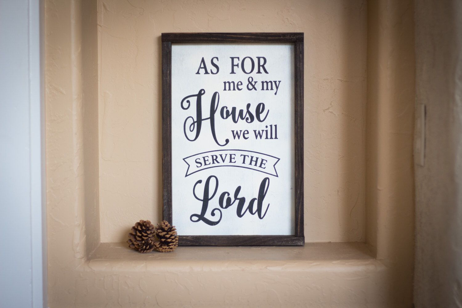 Wood Sign, As for me and my house we will serve the Lord, new home, joshua 24:15, bible verse art sign by LetsFlyAwayShop on Etsy https://www.etsy.com/listing/488273219/wood-sign-as-for-me-and-my-house-we-will