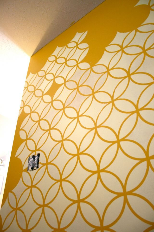 Pinspiration Monday: Stencil Crazy | Wall patterns, Stenciling and Walls