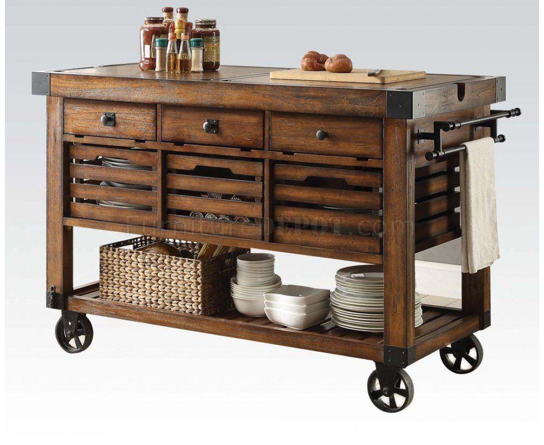 Kaif Collection 98184 Kitchen Cart Portable Kitchen Island Kitchen Cart Kitchen Design Diy