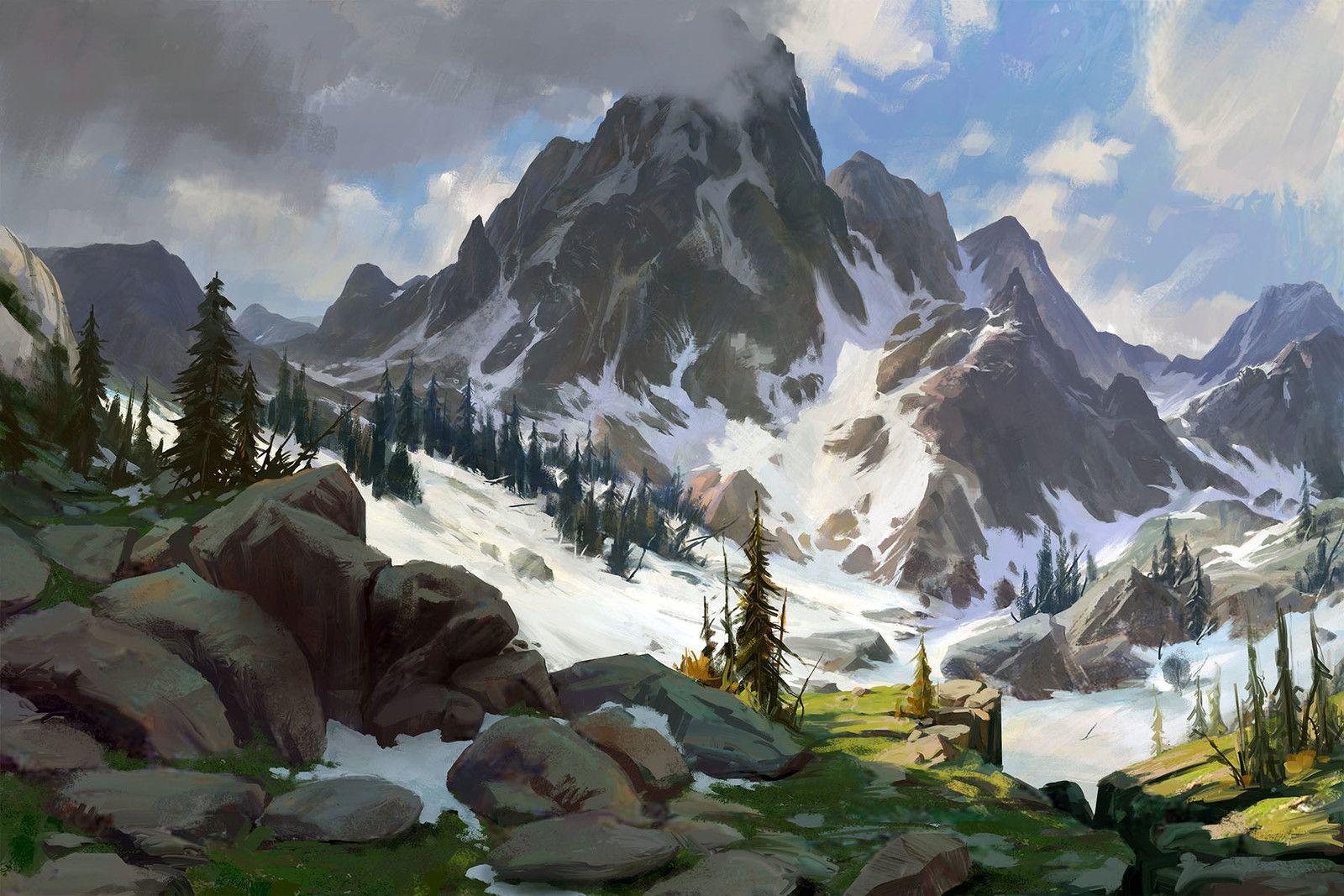 Рисовать горы фото