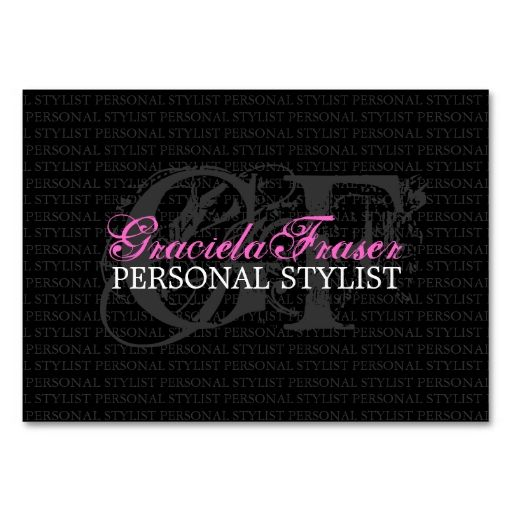 Personal Stylist Gift Voucher Business Card Stilisti - Make Your Own Voucher