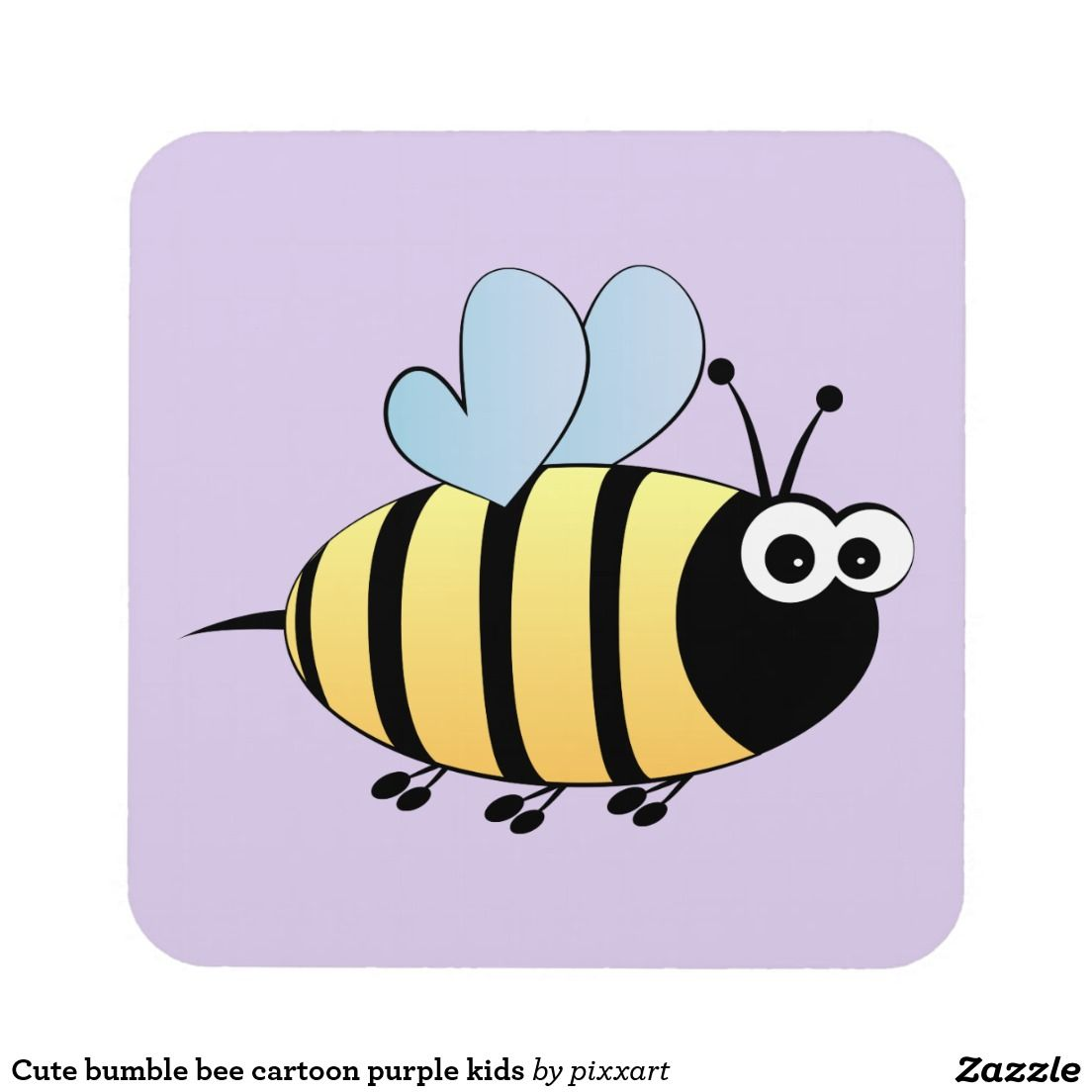 Personalised BEE Coaster Drinks Mat Fun Cute Novelty Childrens Gift Present Idea