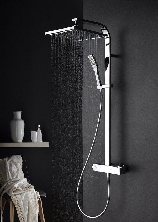 Modern Shower Faucet Ideas With Rainfall Head Bathrooms Shower Modern Shower Heads Bathroom Shower Faucets Rain Shower Head