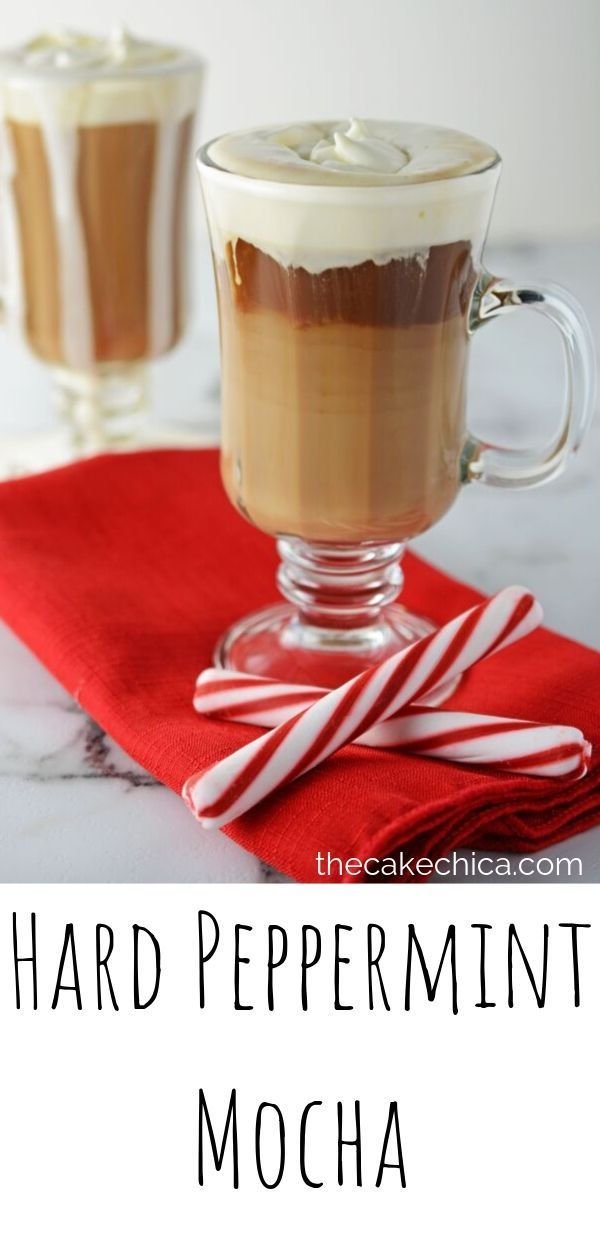 Coffee drink made with peppermint schnapps, chocolate liqueur and homemade whipp...
