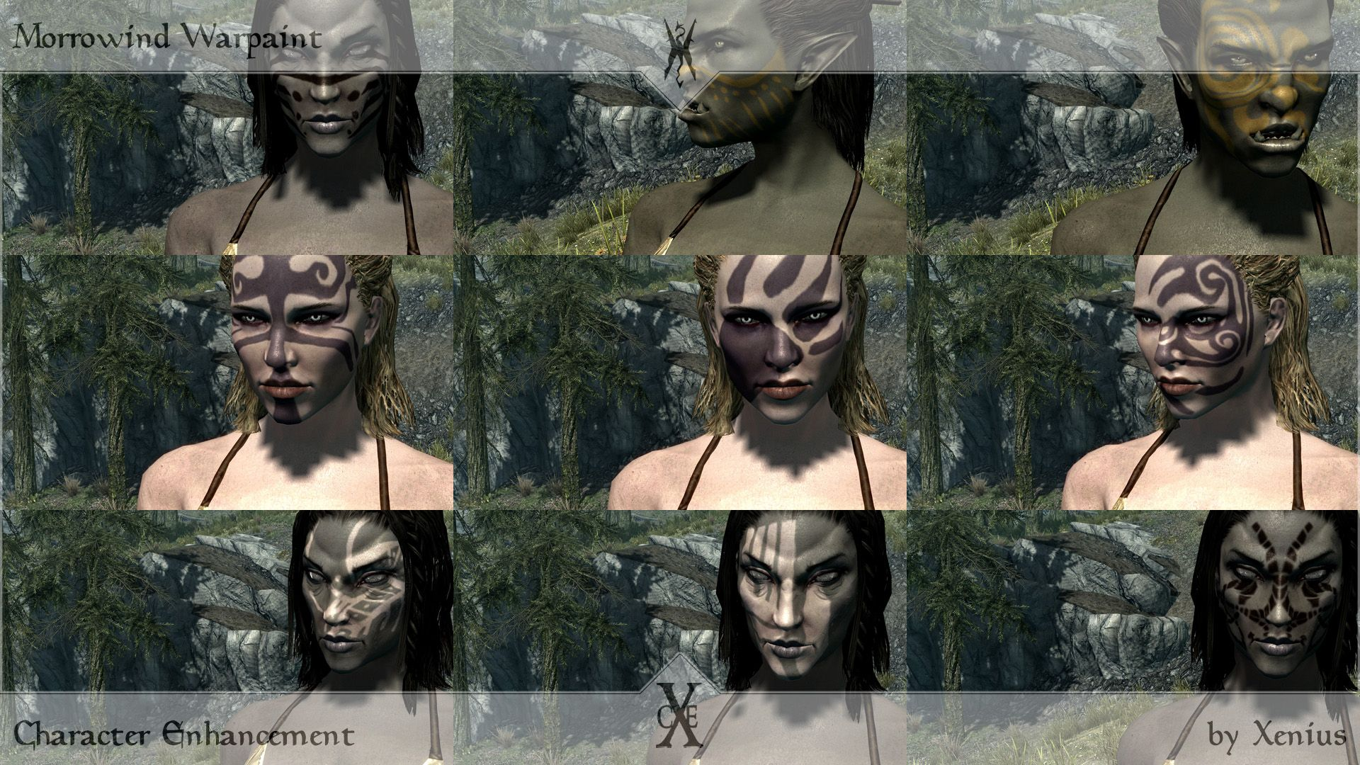 skyrim face paint Google Search Female armor, A funny