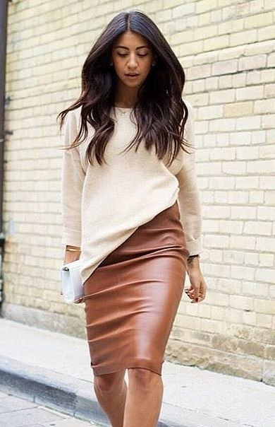 9ba6e309fe 22 Crazy-Good Ways to Wear Leather | What To Wear—Anywhere | Skirt ...
