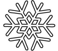 Copo De Nieve Para Colorear Copos De Nieve Plantilla De