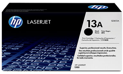 Cartridge HP 13A (Q2613A) genuine - Black Laser Toner Cartridge  Printers use: Ink HP 13A (Q2613A) Genuine manufactured using HP Laserjet 1300  Print Size: 2,500 pages at 5% coverage  Warranty: Standard Warranty genuine HP ink  Free shipping: In HCM City  Website:http://chothuemucin.com/muc-in-hp-13a-q2613a-black-laser-toner-cartridge.html