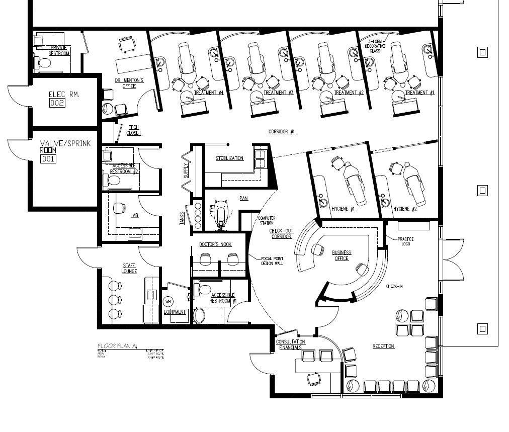 Cosmetic Dentristry 2 500 Sq Ft Hospital Floor Plan Health