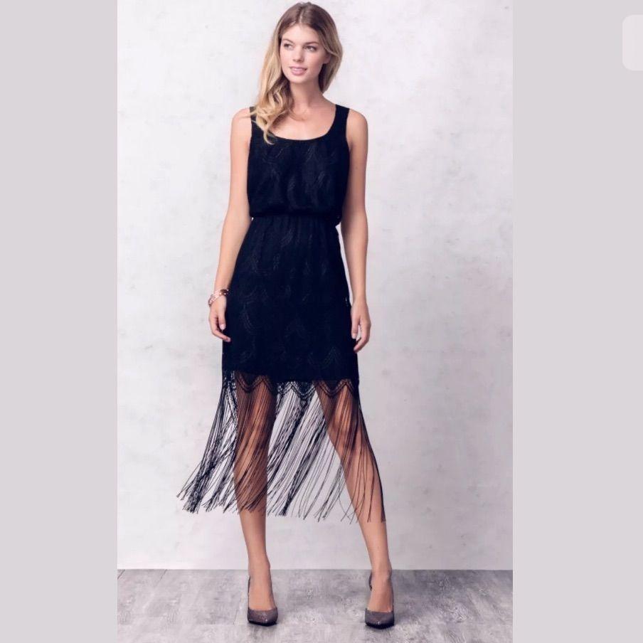 Jessica simpson wedding dress  New Jessica Simpson Fringe Hem Metallic Dress  Pinterest  Products