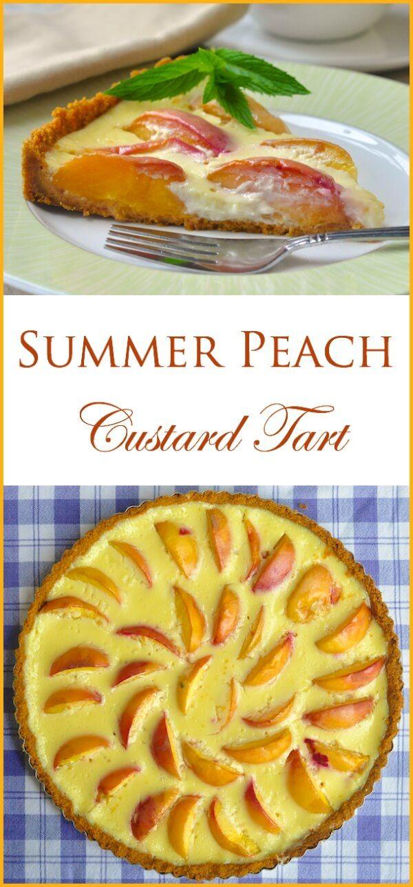 Summer Peach Custard Tart