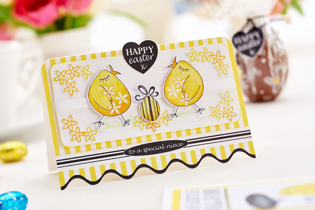 Have fun making this chick-themed card with our April 2015 issue!