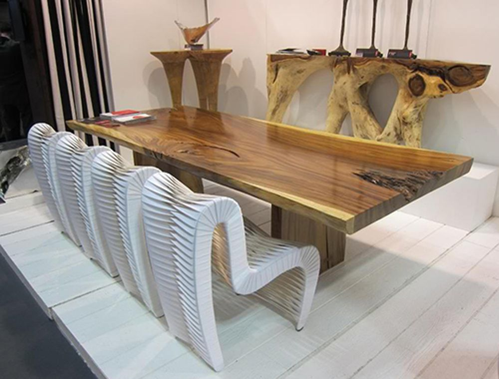 Unique Wood Dining Table Modern Interior Decorating Ideas