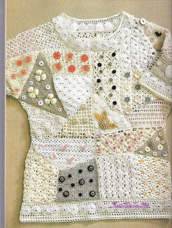 Pin de Яна Муртола en Дамские штучки | Pinterest | Blusas de crochet ...