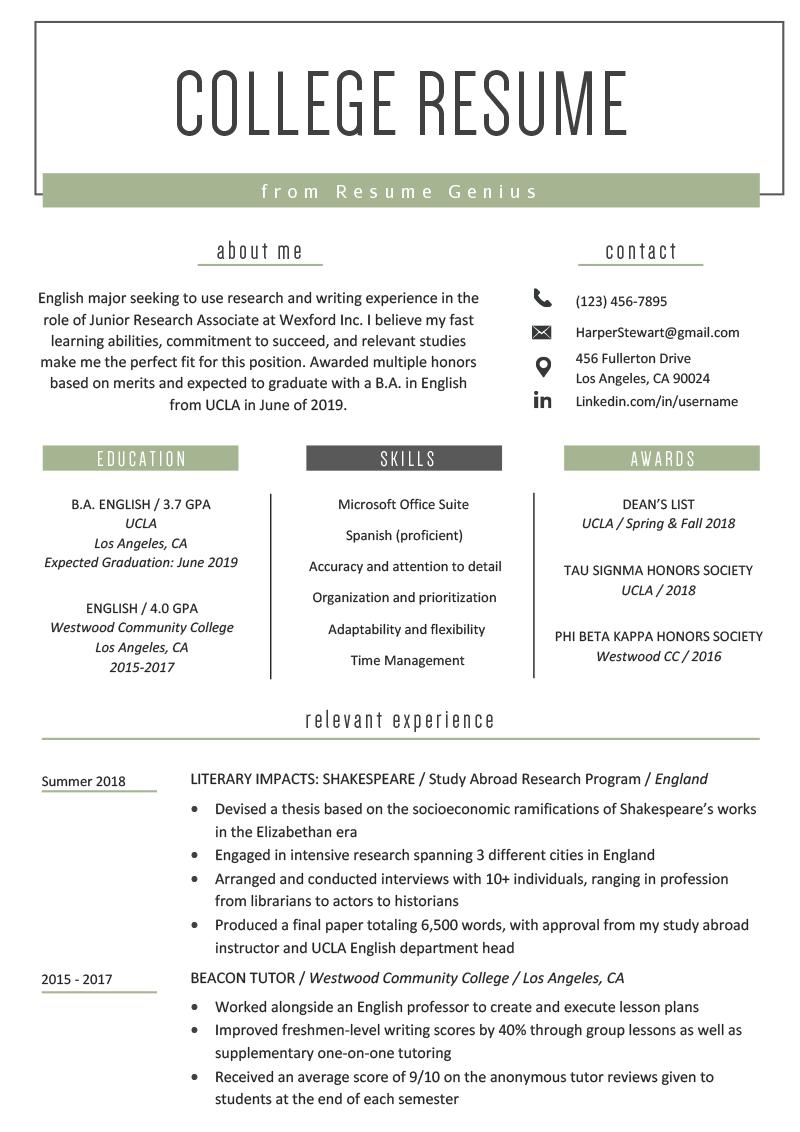 Skills On Resume Sample