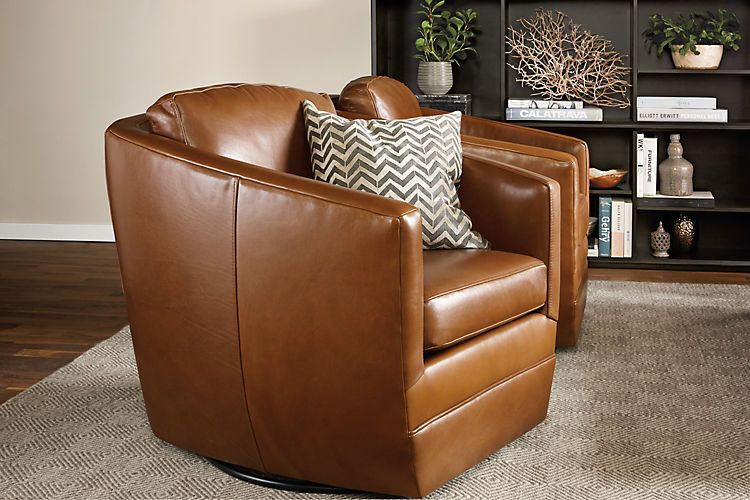 Designer Swivel Chairs For Living Room Delectable Ford Leather Swivel Chair  Leather Swivel Chair Swivel Chair And Design Inspiration