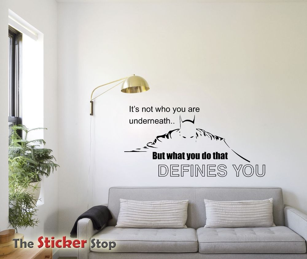 batman quote it s not what you are underneath wall sticker decal batman quote it s not what you are underneath wall sticker decal inspiraton