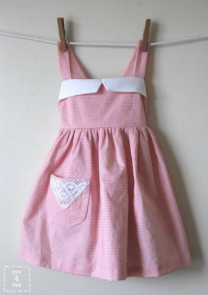 DIY Vintage Apron Dress A Vintage Apron Dress For Little Girl