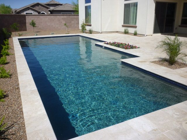 Pool Waterline Tile Ideas Contemporary Classic With Blue Water Line Modern Pool In 2019