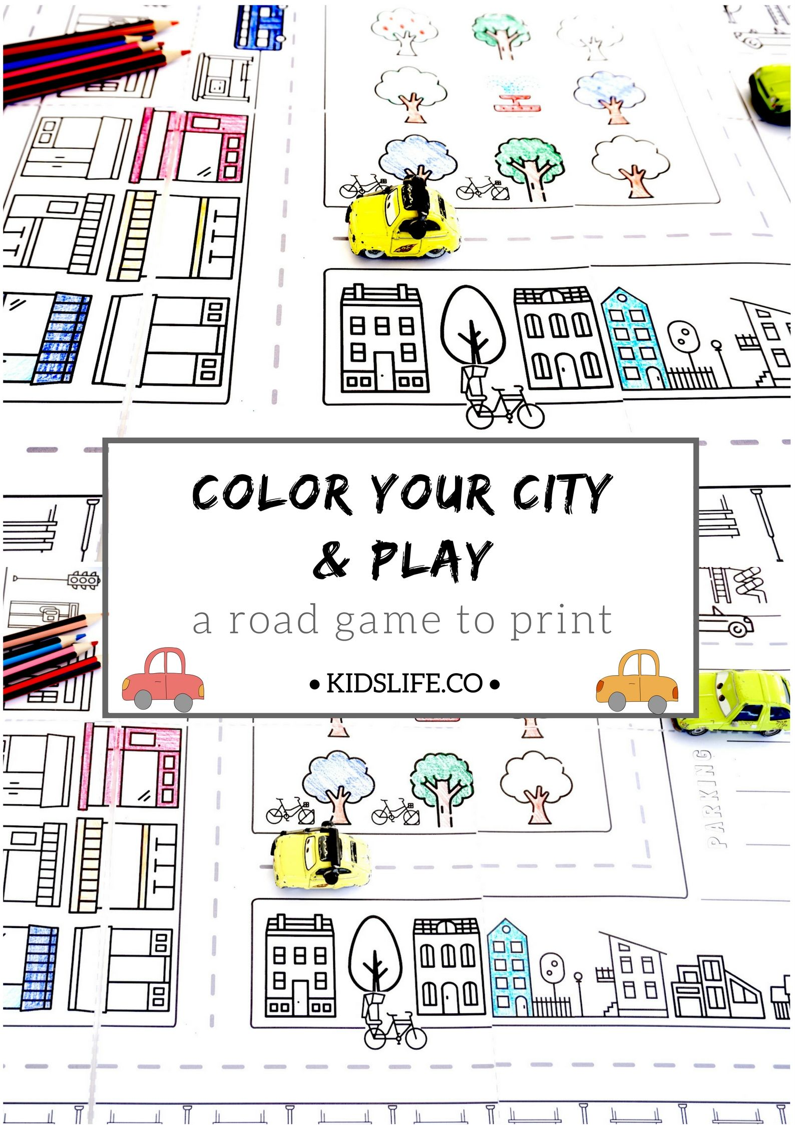 Color Your City And Play With It Map Activities Maps For Kids Activities For Kids