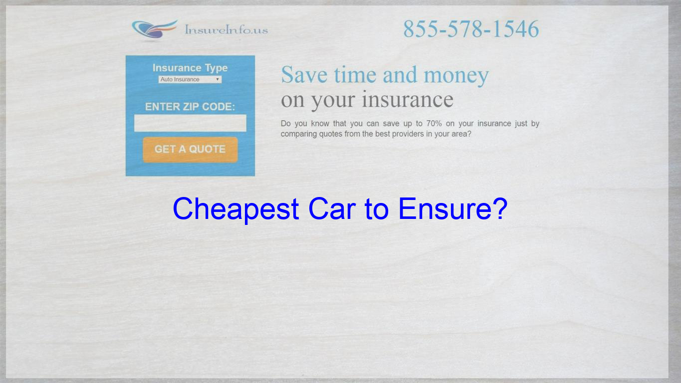 What Would Be The Cheapest Car To Insure For A 19yr Old Male