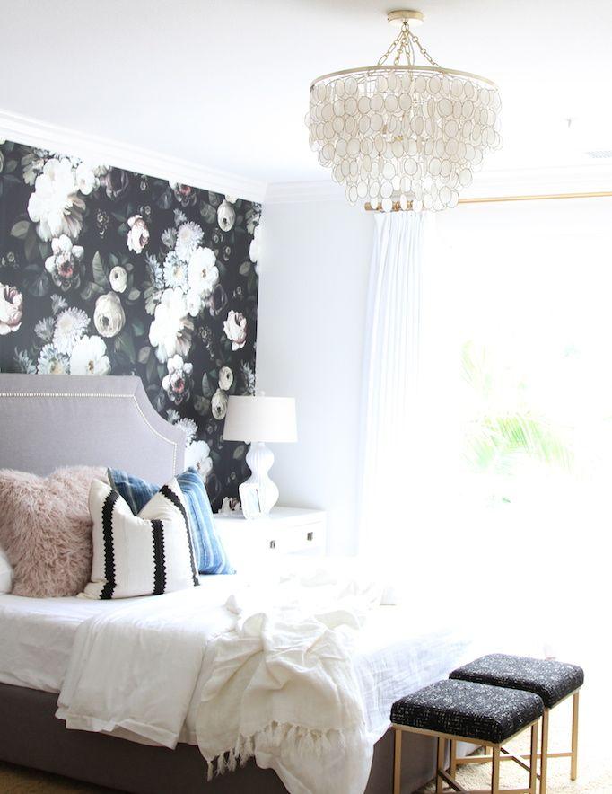 Modern Mix A Bold Floral Bedroom With Images Floral Bedroom