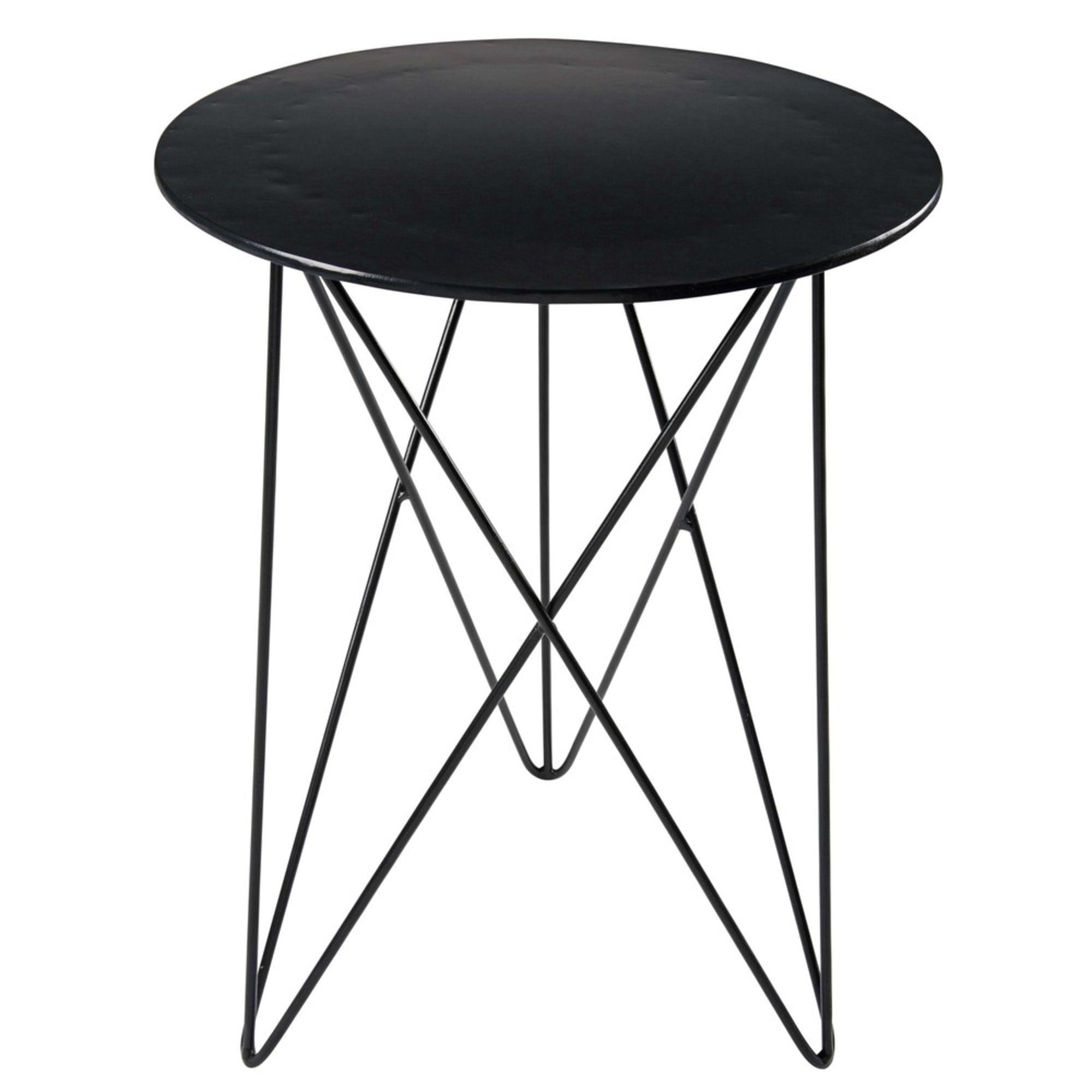 Beistelltisch Aus Schwarzem Metall Maisons Du Monde Black Metal Bedside Table Metal Side Table Small Black Table [ 2000 x 2000 Pixel ]