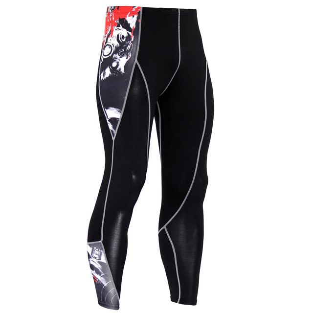 d2e8833249 Check current price High Quality Mens Skinny Fitness Compression Pants Male  Crossfit Weight Lifting Joggers Pants Quick Dry Breathable Trousers MMA  just ...