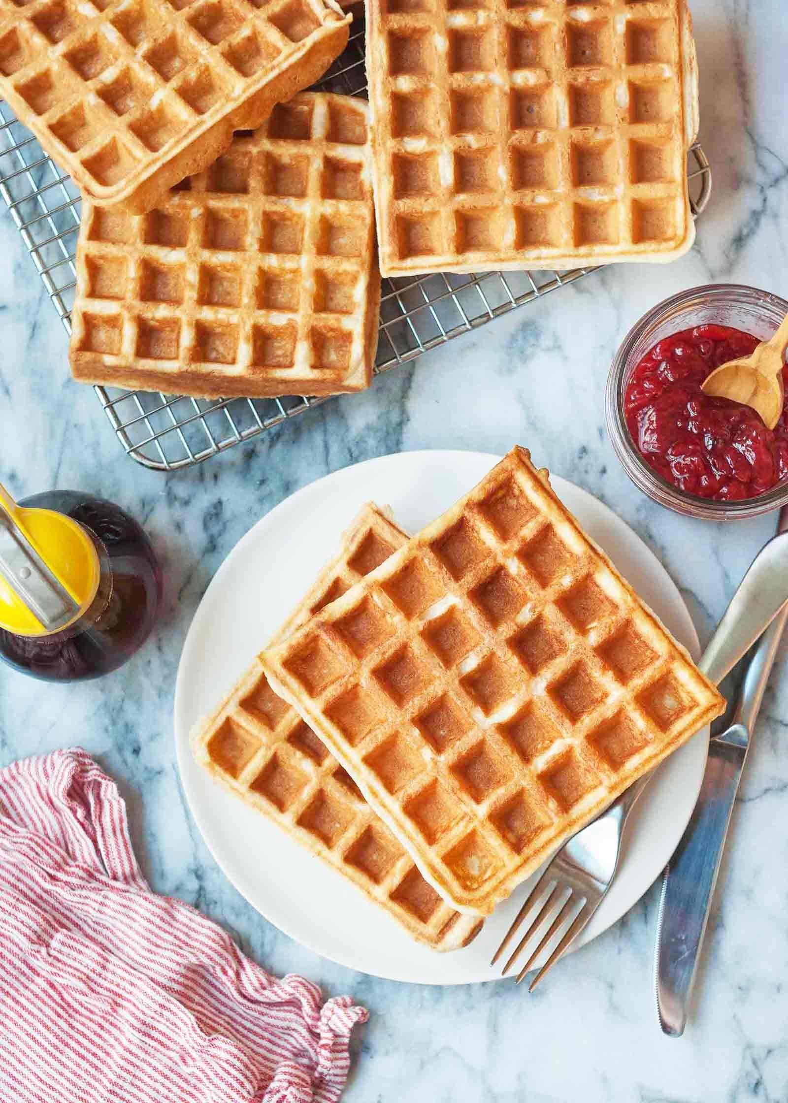Classic Buttermilk Waffles Recipe Buttermilk Waffles Waffle Recipes How To Make Waffles