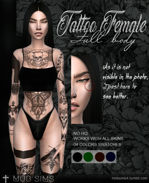 Pretty - Sims 4 CC's - The Best: TATTOO FEMALE FULL BODY par Mob Sims