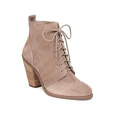 Jessica Simpson Channie Suede Lace-Up Bootie
