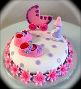 Its a girl!!! I made this baby shower cake for a very dear friend of mine.