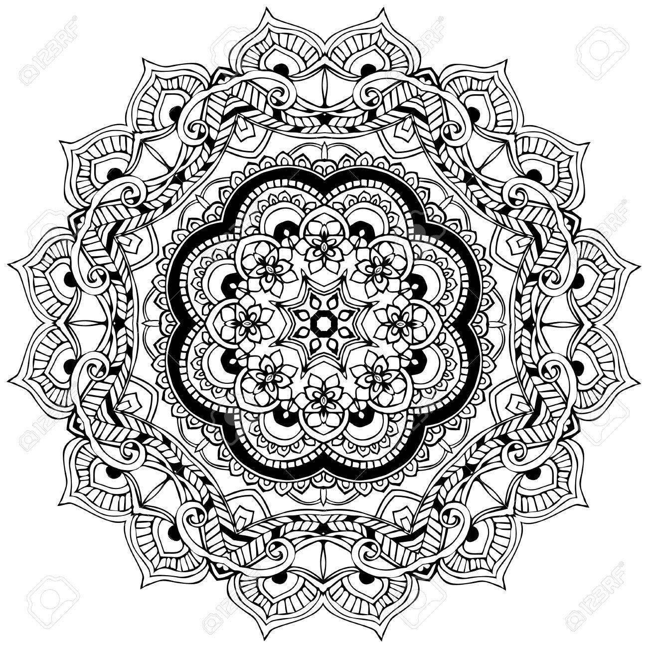 Resultado de imagen para mandala geometrico   Para Pintar ...