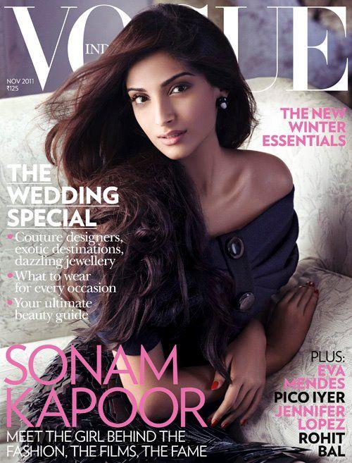 Sonam Kapoor. Vogue India November 2011.