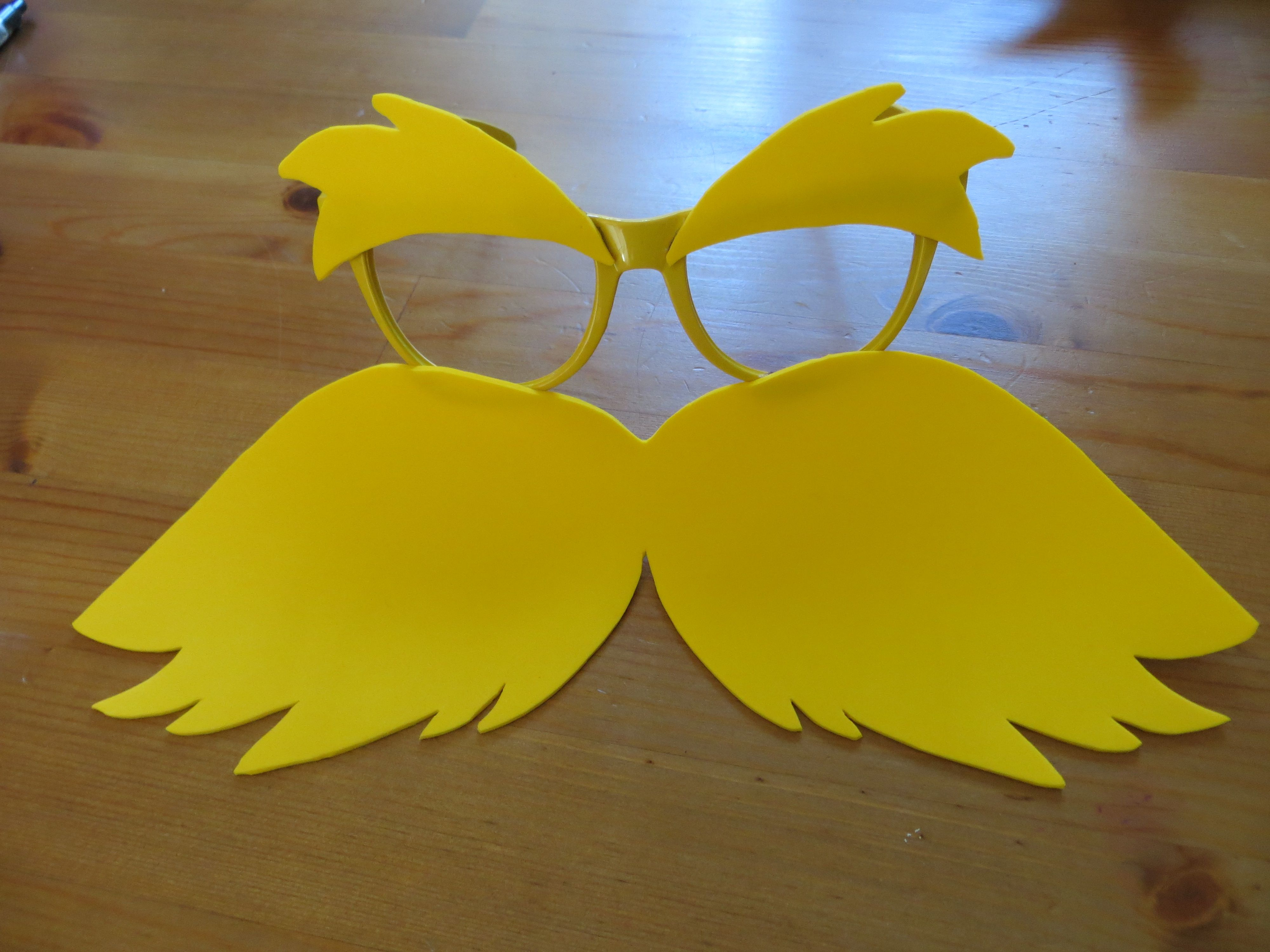 Diy lorax costume classroom things pinterest diy costumes the lorax diy costume and done hope your lorax inspired sunglasses turn out great we got a solutioingenieria Choice Image