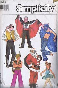 Vampire-Ballerina-Santa-Pirate-COSTUME-SEWING-PATTERNS-MEN-WOMEN-BUST-36-38-CUT