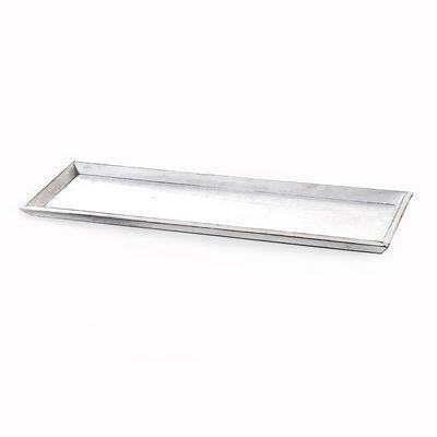 Tablett gewischt Holz weiß ca L:58 x B:17 x H:2,5 cm