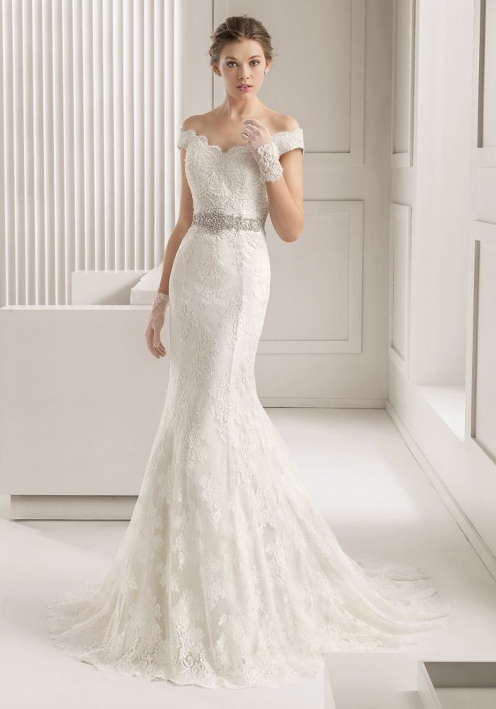 Rosa Clara 2015 Off The Shoulder Mermaid Wedding Dress Gown