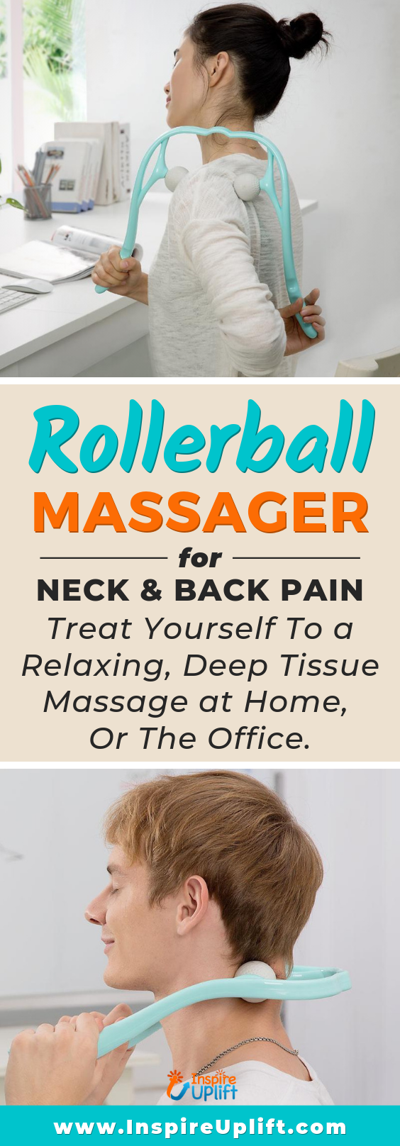 Rollerball Massager for Neck & Back Pain 😍 InspireUplift.com