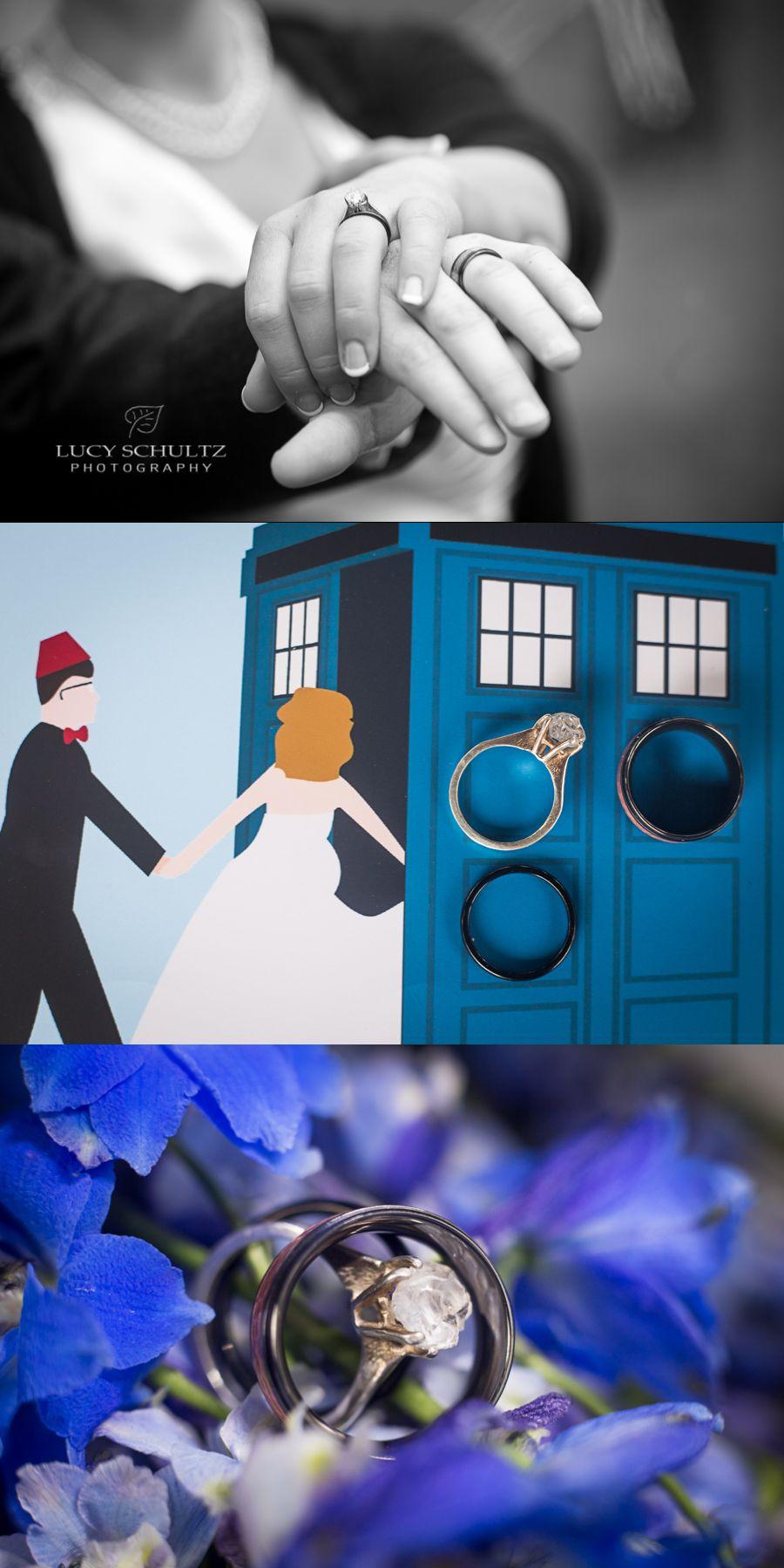 Doctor Who Wedding  Tardis  Wedding Rings  Romantic Wedding Photos   Must Have Wedding