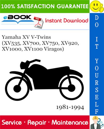 Yamaha Xv V Twins Xv535 Xv700 Xv750 Xv920 Xv1000 Xv1100 Viragos Motorcycle Service Manual In 2020 Repair Manuals Yamaha Repair