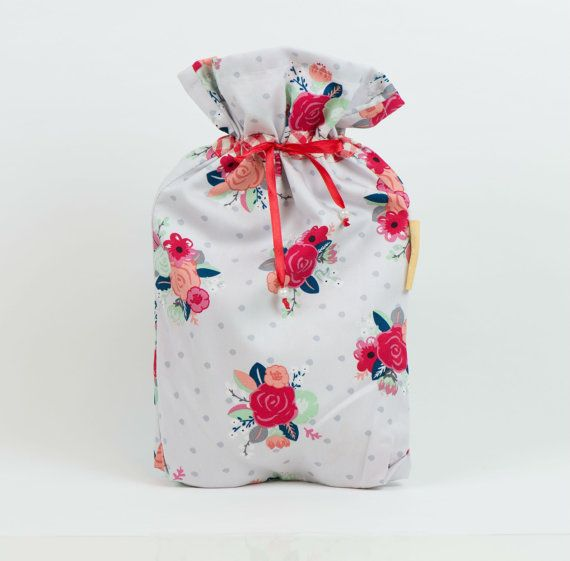 SALE: Cotton drawstring bag for pyjamas travel by MoonlightCompany