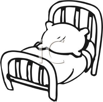 White 0511 1008 0319 2532 Black And White Cartoon Bed Clipart Image Black And White Cartoon Coloring Pages For Boys Clip Art