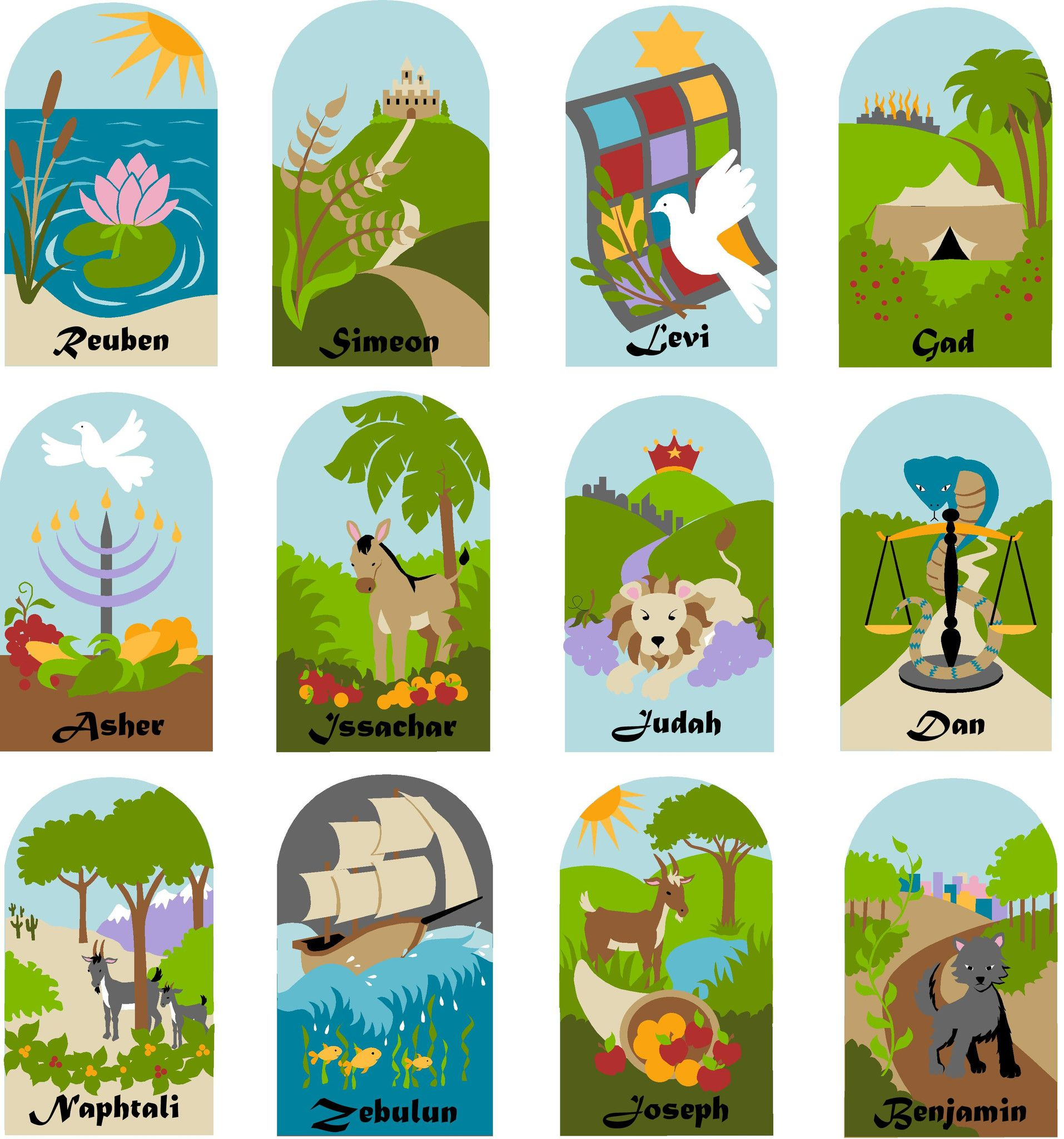 Twelve Tribes Of Israel Wall Mural