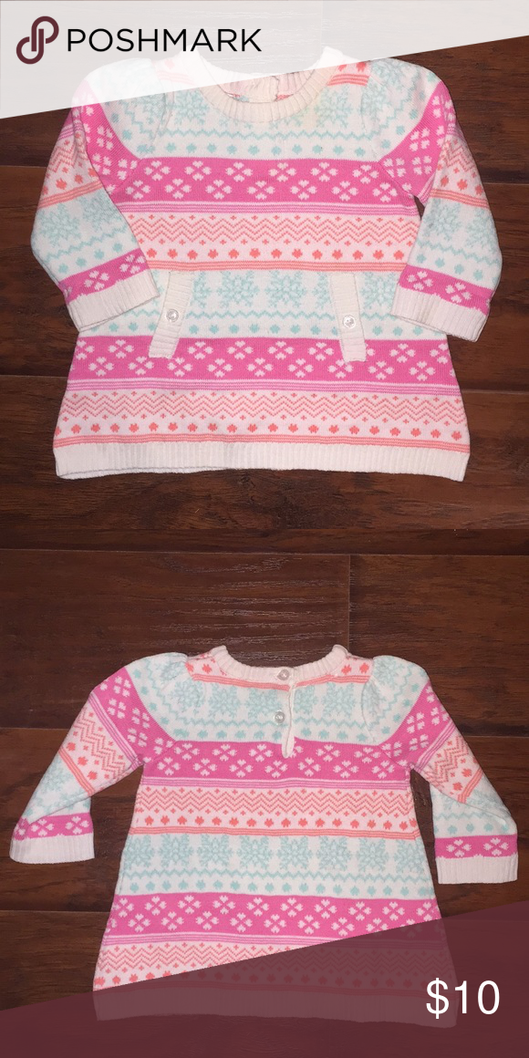 3ef49a397a8 🎉Host Pick🎉EUC - Small Wonders Sweater Dress Adorable snowflake sweater  dress