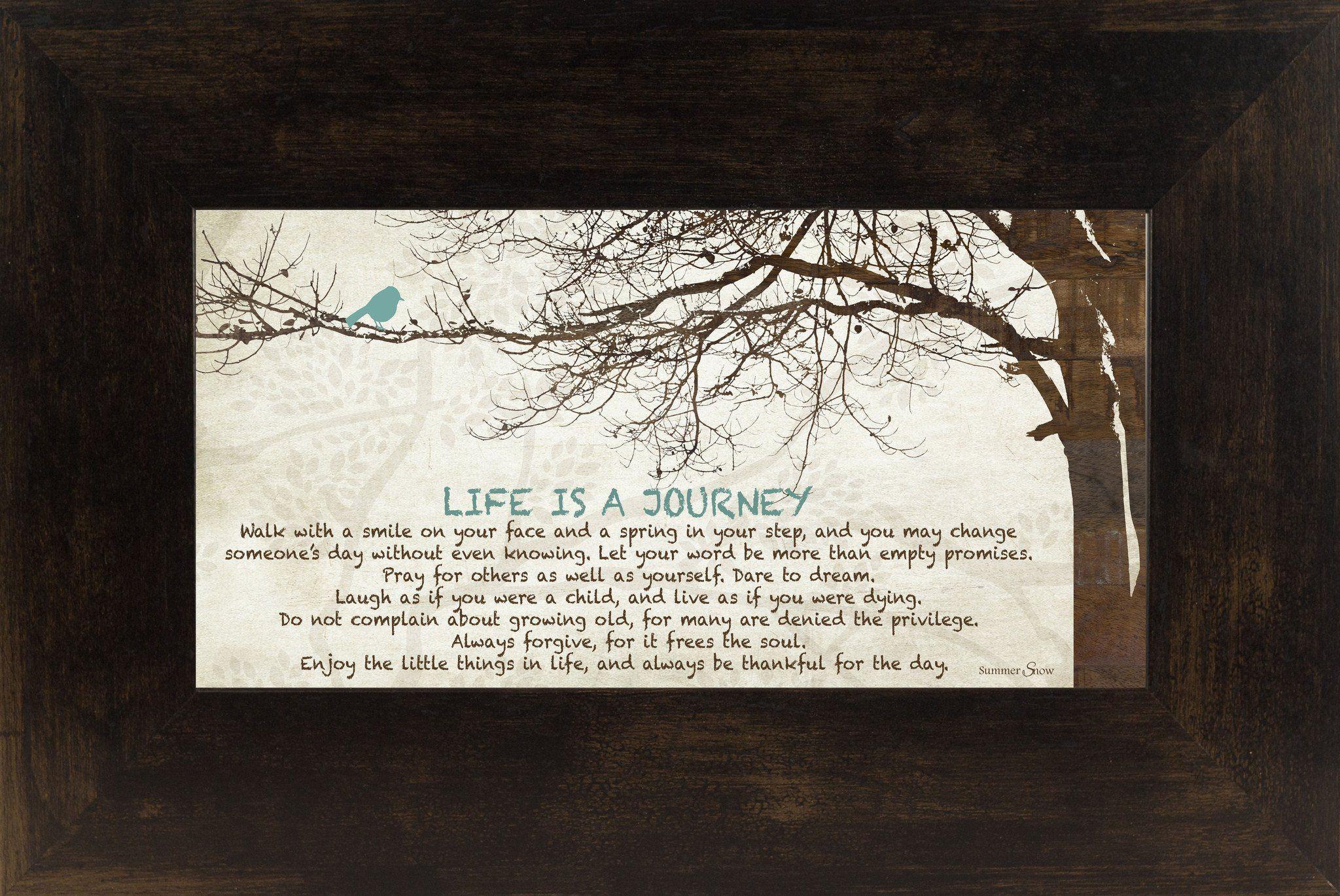 Life Is A Journey Tree Blue Bird Ss
